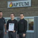 Aptum certifierat för gassläcksystem