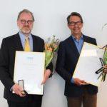 Hasse Aro och Erik Wennerström får SSF Stöldskyddsföreningens förtjänsttecken 2017