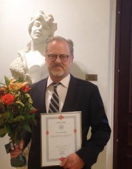 Erik Wennerström tilldelades 2018 års von Matern premium