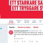 Socialdemokraternas Twitterkonto hackat