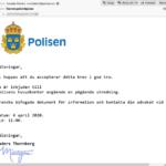 Nätkriminella utger sig för att vara svenska polismyndigheten och SEB