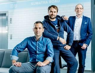 Ansvariga för Tietos tre startups: Markus Melin, Taneli Tikka och Mikko Leinonen.