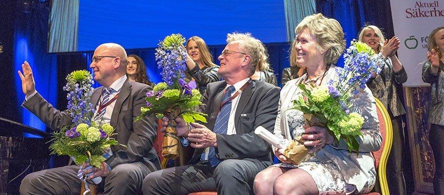 Magnus Ranstorp, Björn Eriksson och Kristina Wåå. Alla tre nominerade till Årets Säkerhetsprofil 2015.