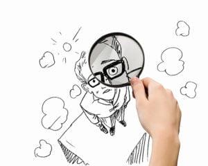Caricature of businessman