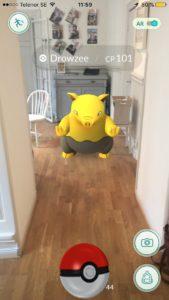 Fångad Pokémon på Aktuell Säkerhets redaktion.
