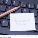 Mer än hälften av svenskarna slarvar med lösenordet