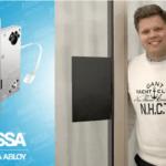 Säkerhetsdörr uppfyller Skyddsklass 2 med ASSA motorlås