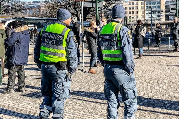 Väktares och ordningsvakters insatser ökade med 14 procent 2019